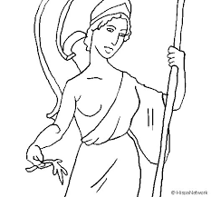imagenes de zeus para dibujar faciles dibujo de atenea para colorear dibujos net