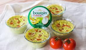 boursin cuisine recette recette boursin flans de courgettes aux tomates fraiches et au