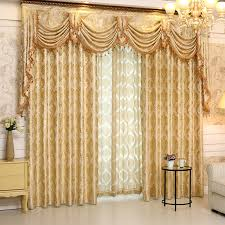 Discount Curtains And Valances Readymade Windows Golden Jacquard Curtains Lr Luoman Europe Semi