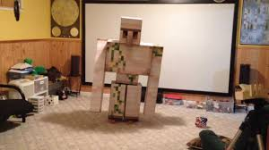 the iron golem costume project youtube