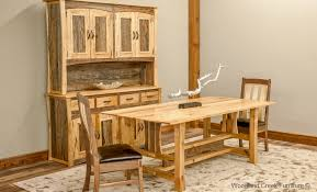 rustic craftsman dining table barn wood dining table rustic table