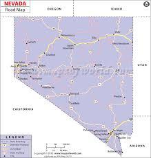 nevada road map road map