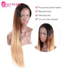 how to make baby hair 1b 4 27 ombre color lace front human hair wigs with baby hair pre