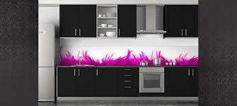 crédence plumes crédence sur mesure crédence cuisine décoration