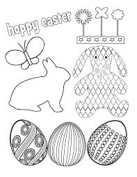 easter free coloring prints