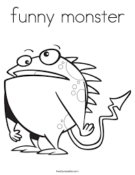 twisty noodle coloring pages funny monster coloring page twisty noodle