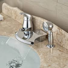 pull out bathtub faucet aliexpress com buy creative deck mount pull out sprayer waterfall