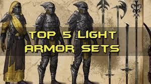 elder scrolls online light armor sets top 5 light armor sets elder scrolls online youtube