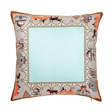 faux leather throw pillows equine collection equestrian silk twill cushions bivain