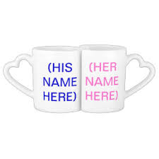 His And Her Mug Valentines Day Mugs Coffee Mugs U0026 Cups Zazzle Co Uk