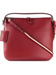 bally medium u0027fiona u0027 hobo bag in red lyst