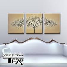 today 24 inches wide 3 original canvas set brown wall