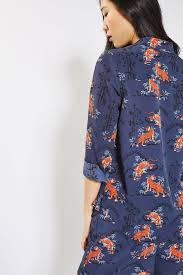 petite tiger print shirt sale topshop