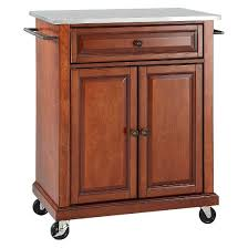 Crosley Steel Kitchen Cabinets by Stainless Steel Top Portable Kitchen Cart Island Crosley Target