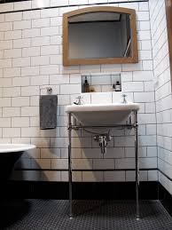 Mosaic Border Bathroom Tiles Our Latest Bathroom Renovation Subway Tiles Black Border And