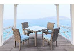 Square Glass Dining Tables South Sea Rattan St Tropez Wicker 32 Square Glass Dining Table 79317