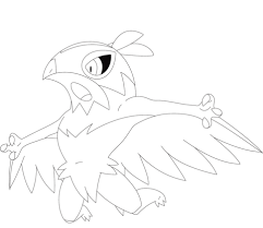 hawlucha coloring page free printable coloring pages