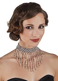 dress with choker necklace images Struts fancy dress silver beaded greek goddess choker jpg