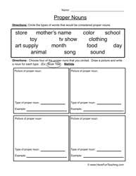 18 best images of proper noun worksheets for kindergarten common