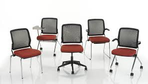 Armchair With Wheels Contemporary Office Chair On Casters With Armrests Star Base