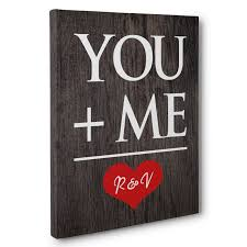 wedding gift near me you and me personalized canvas wall anniversary wedding gift