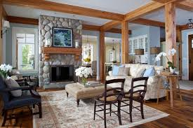 Visbeen Architects by Blaine Traditional Cottage Rustic Living Room Grand Rapids