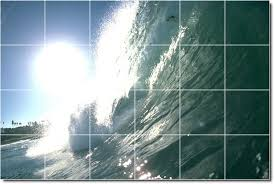 ceramic tile murals and waves picture mural tile bathroom shower