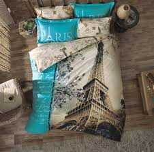 Notre Dame Bedding Sets Stylish 7 Piece U201ceiffel Tower In Autumn U201d Full Down Comforter
