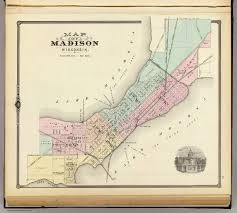 Wisconsin Map by Map Of Madison Wisconsin David Rumsey Historical Map Collection