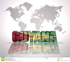 guyana on world map word guyana on a world map background stock illustration