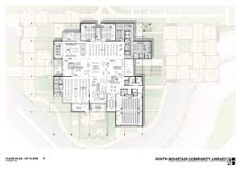 Mountain Architecture Floor Plans Gallery Of South Mountain Community Library Richärd Bauer 8