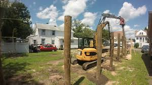 piling foundation install first row youtube