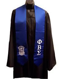 graduation stoles phi beta sigma royal blue satin graduation stole w