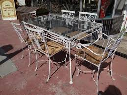 Patio Furniture Glass Table Vintage Wrought Iron Patio Furniture Room Table Glass Top Wood