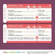 red boarding pass save the date template free printables online