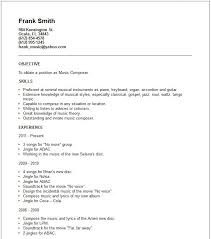 Actor Sample Resume Musician Resume Template Sample Of Acting Resume Template We