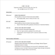 Military Resume Examples by Military Resume Templates Free Military Resume Builder Free