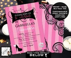 victoria secret invitations quinceanera pink party invites