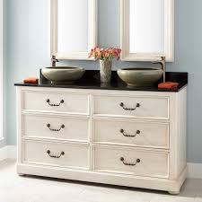 mahogany double vessel sink vanity antique white vessel sink