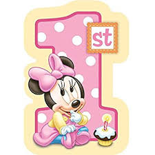 baby minnie mouse 1st birthday baby minnie mouse 1st birthday invitations 8 pkg