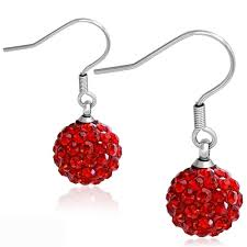 hypoallergenic earrings shamballa drop hypoallergenic earrings w siam cz