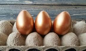 metallic easter eggs decorative easter eggs easter eggs metallic eggs metal leaf