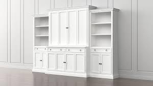 cameo 4 piece white storage bookcase entertainment center crate