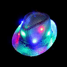 led flash sequins hat adults children hip hop light up jazz cap
