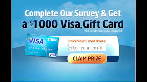 free gift cards by mail get free 1000 visa gift card 2017 win 1000 visa gift cards