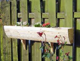 Wooden Window Flower Boxes - wooden window box