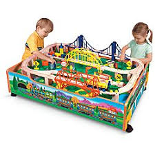 wooden train set table wooden train table and trains deal deals families com