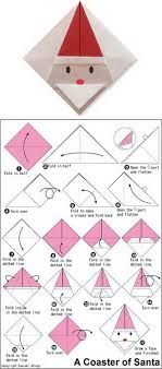 How To Make A Origami Santa - origami santa claus coaster craft ideas all things paper