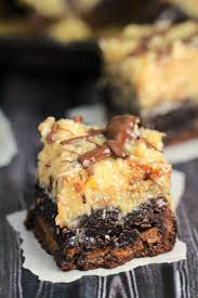 caramel stuffed german chocolate brownies frugal mom eh