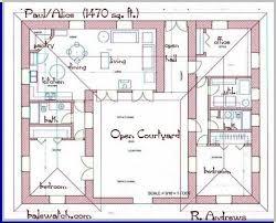 courtyard house plans u shaped house plans courtyard house plans u shaped nobby design